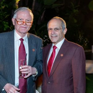 Frederick S. Pardee (Questrom'54,'54, Hon.'06) (left)—with Board of Trustees chair and campaign chair Kenneth J. Feld (Questrom'70)