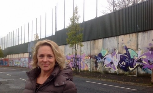 Tyler visits the Peace Wall in West Belfast