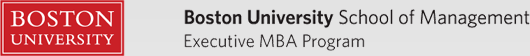 Boston University School of Management Executive MBA Program