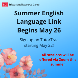 Summer English Language Link begins May 26. Sign up on TutorTrac starting May 22. All sessions will be offered via Zoom this summer