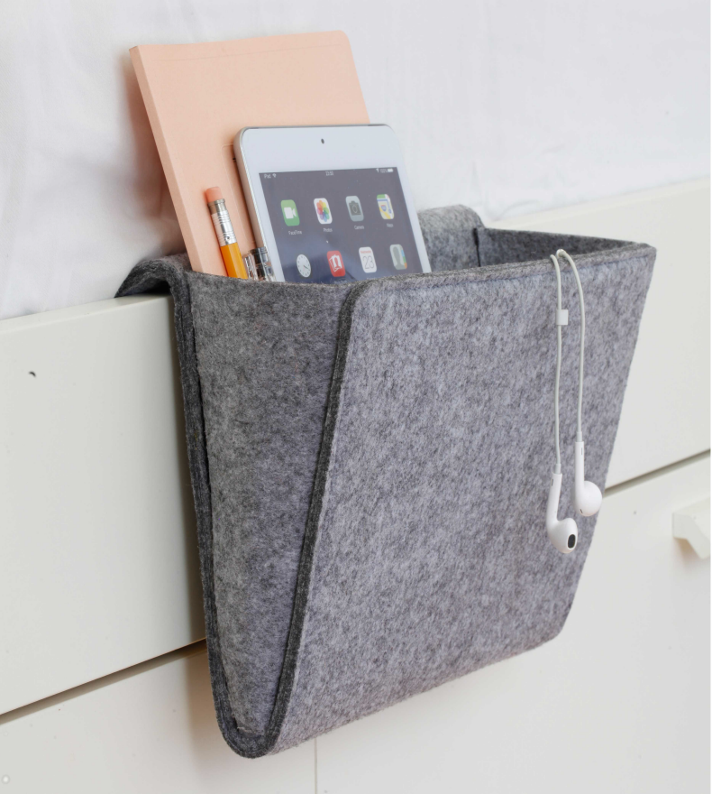 Product photo of Felt bedside caddy by Kikkerland