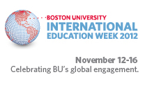 International Education Week, Celebrating BU's global engagement. November 12-16