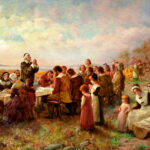 An illustration of the first Thanksgiving