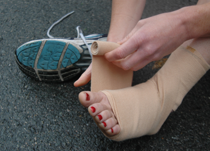 Wrapping an Injured Ankle