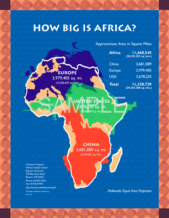 "Order ""How Big is Africa?"" Poster for $19.95 + SH » African"