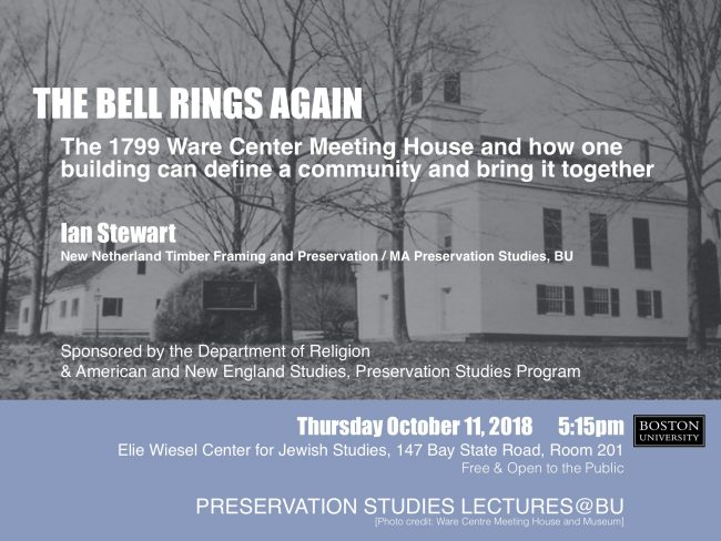 Upcoming Preservation Studies Lecture On The Ware Center Meeting