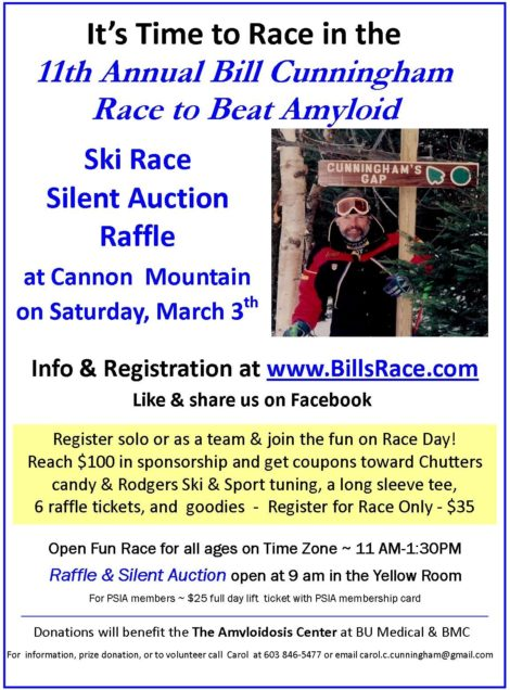 11th Annual Bill Cunningham Race to Beat Amyloid – Saturday