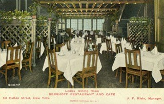 Berghoff Ladies Dining Room Ca 1910 New York City