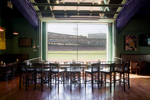 The Central Area Of Bar Looks Out Onto Boston Red Sox Field At Fenway Park Photo Source Author S Personal Collection