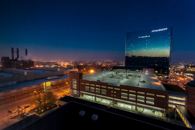 The JW Marriott and Fairfield Inn & Suites hotel in Downtown Indianapolis are one of Marriott's dual branded pairings