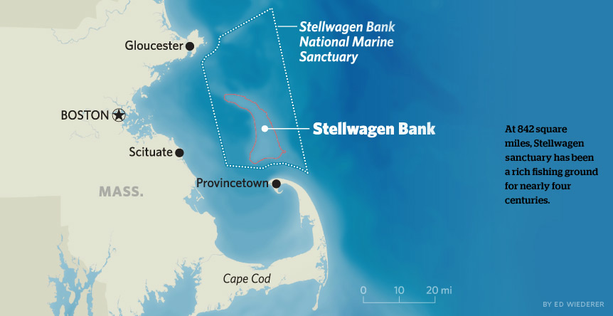 Map of Stellwagen Bank