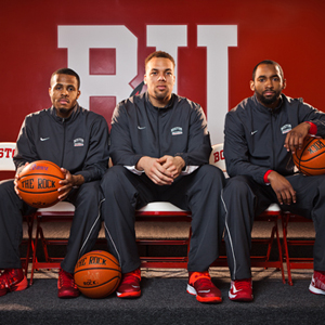 D.J. Irving, Dom Morris, Travis Robinson, Boston University, BU Terriers, men's basketball tricaptains