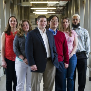 Searle Scholar professor Neil Ganem and assistants from the Boston University Laboratory of Cancer Cell Biology