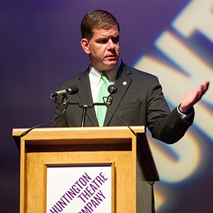 Mayor Marty Walsh at the Huntington Theatre