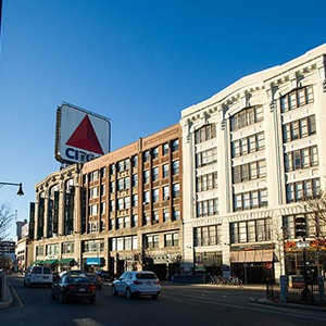 Buildings and Citgo sign in Kenmore Square, Boston