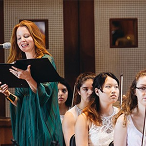 Actor and singer Lauren Ambrose performs at the Boston University Tanglewood Institute 50th Anniversary concert
