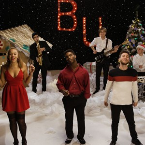 BU musicians on magical winter Wonderland set.