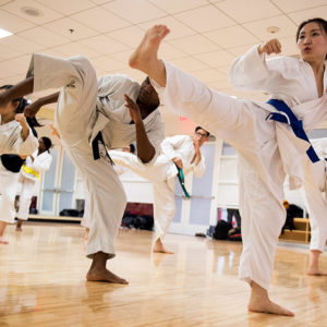 BU Shotokan Karate Club practice