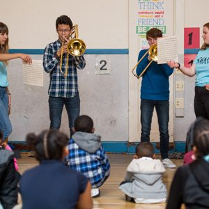 Students perform at the Boston After-School Music (BAM) program