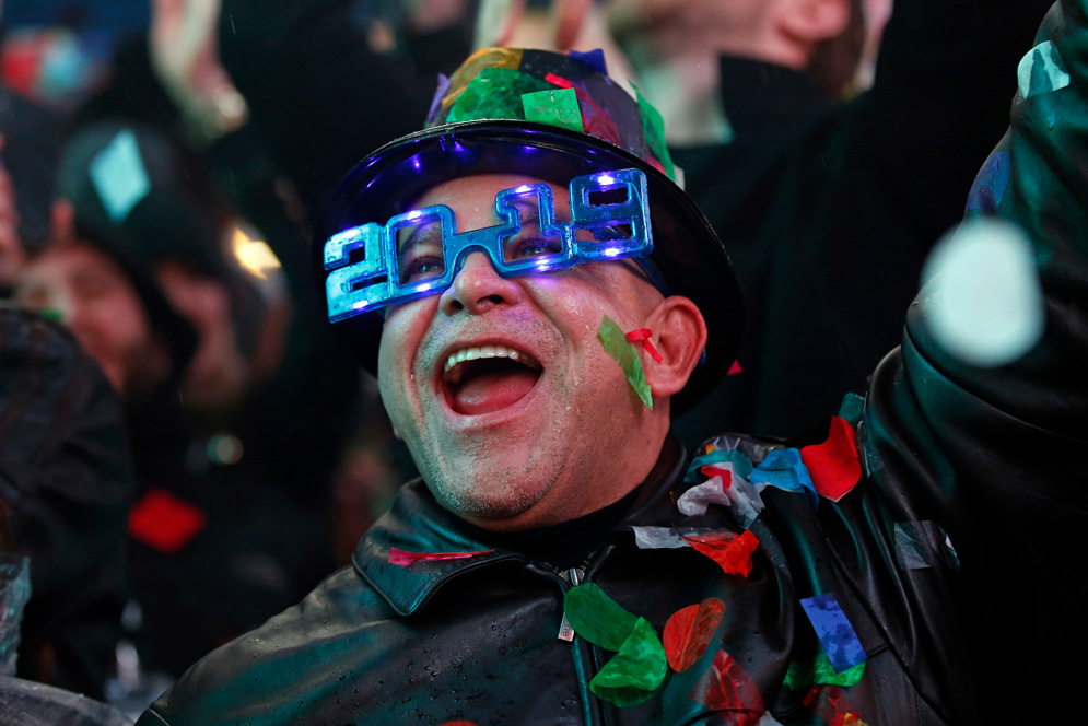 With New Year's celebrations over, several BU faculty weigh in on what's likely for 2019. AP Photo/Adam Hunger