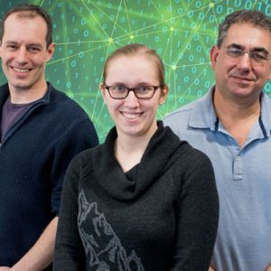 BU computer scientists Adam Smith (from left), Sarah Scheffler, and Ran Canetti are working with MIT PhD students to design systems whose decisions about all subsets of the population are equally accurate.