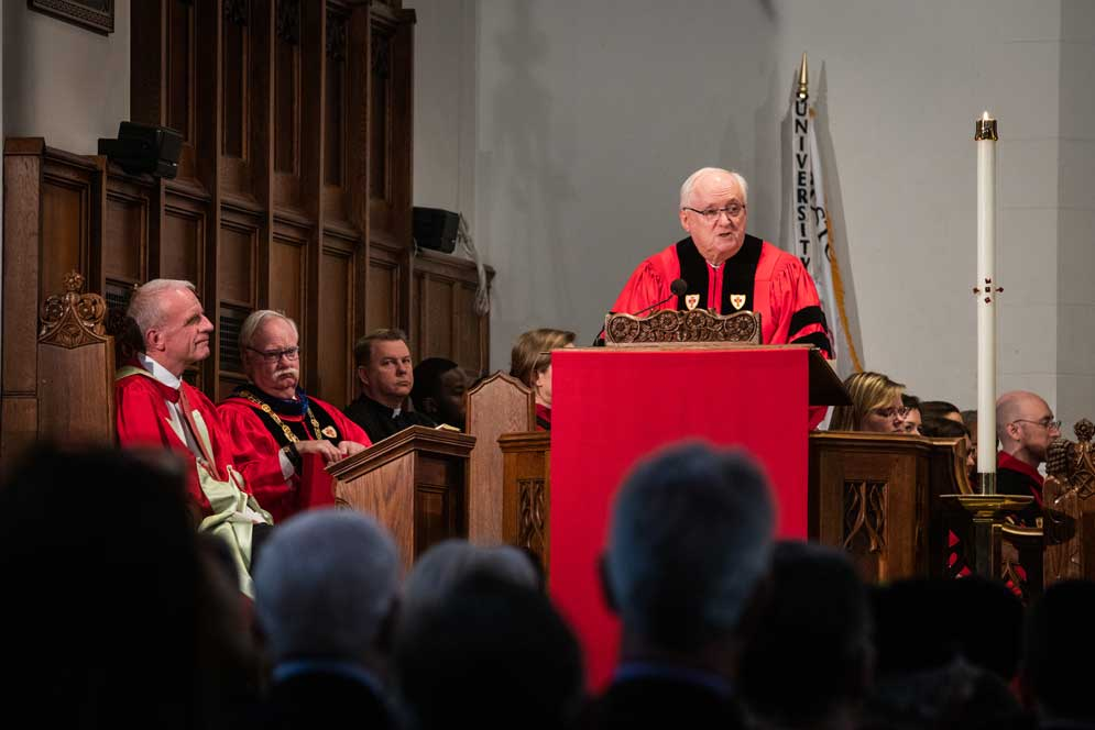 In Baccalaureate Address, John Howe (MED'69, Hon.'19) Puts