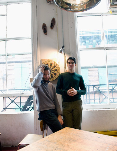 Safdie brothers in their SoHo loft