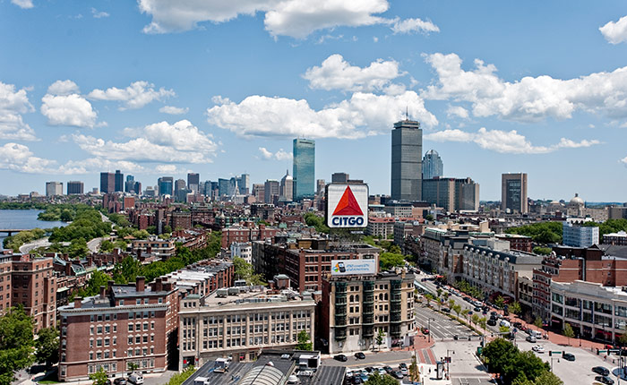 View of Boston from 1 Silber Way