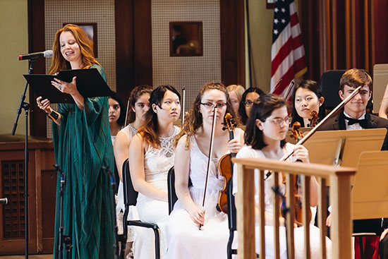 Lauren Ambrose with the Young Artists Orchestra