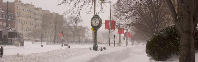 Snowy Commonwealth Avenue