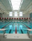 The pool at the Fitness & Recreation Center