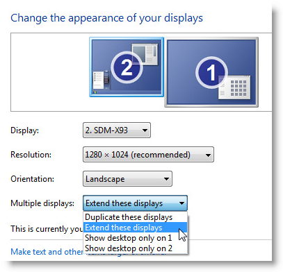 Desktop Mirroring or Extend | Technology Services