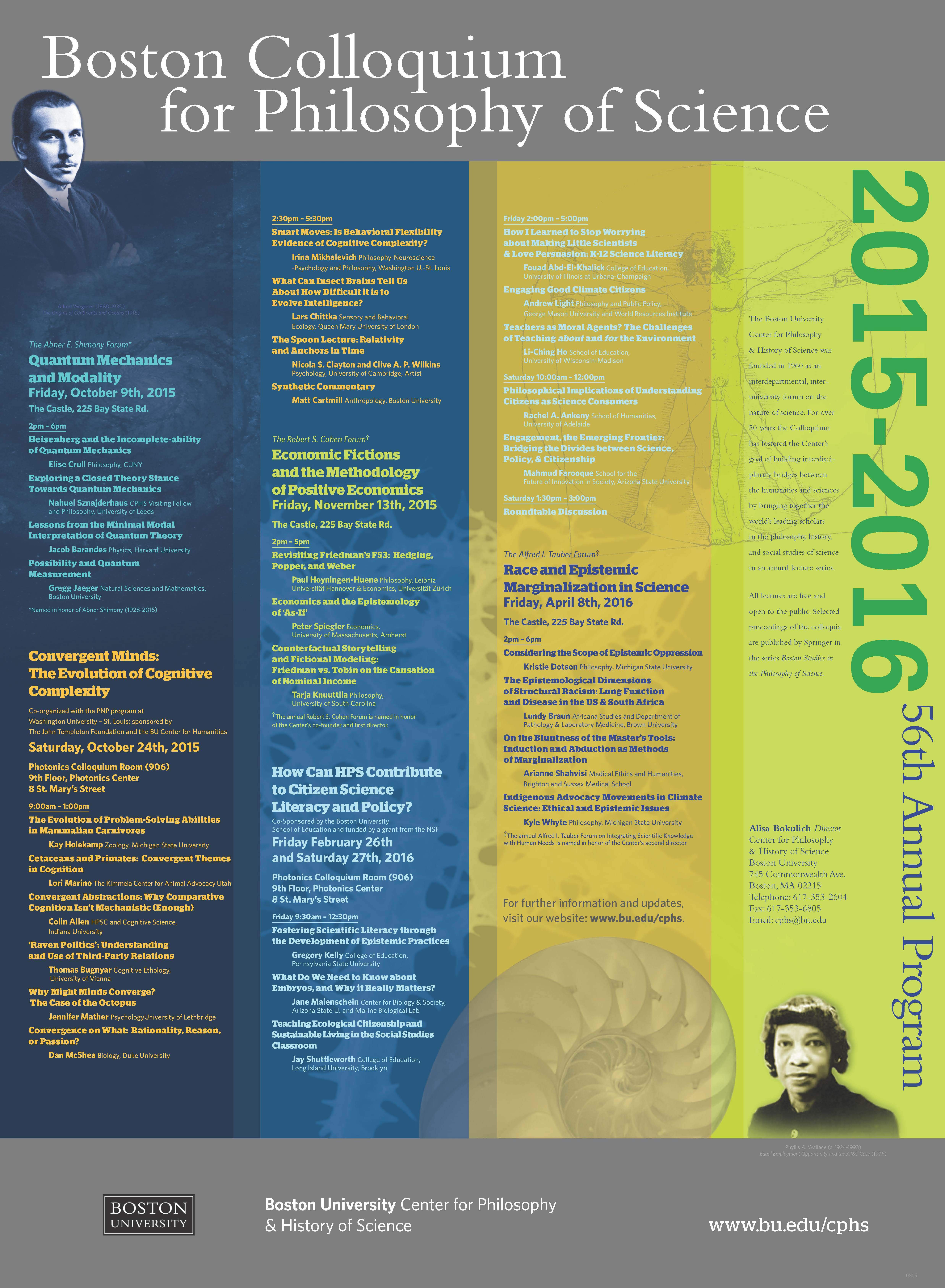 Archives 2015-2016 » Center for Philosophy & History of Science