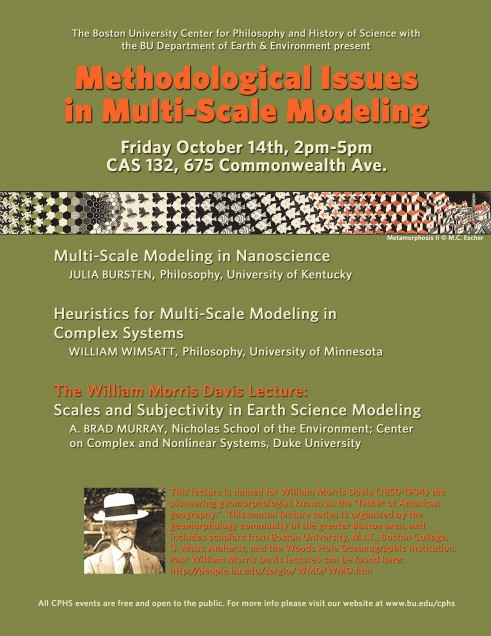 Issues in Multi-Scale Modeling Event Poster