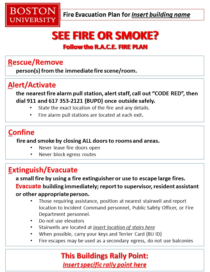 Fire safety resources environmental health safety for Environmental protection plan template