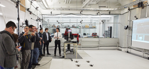 Tour group in Robotics lab. Photo by Dave Green.