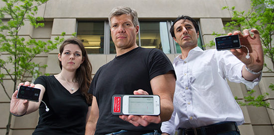 Professor Damiano with research assistants for the Bionic Pancreas Project