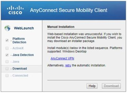 BU Cisco AnyConnect VPN Web Client » Enrollment Services Operations