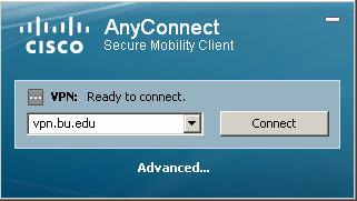 BU Cisco AnyConnect VPN Web Client » Enrollment Services