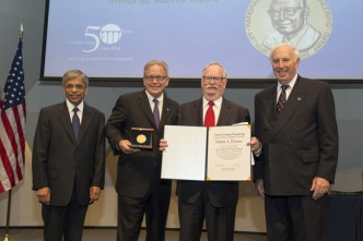Boston University BU, President Robert Brown, NAE award ceremony