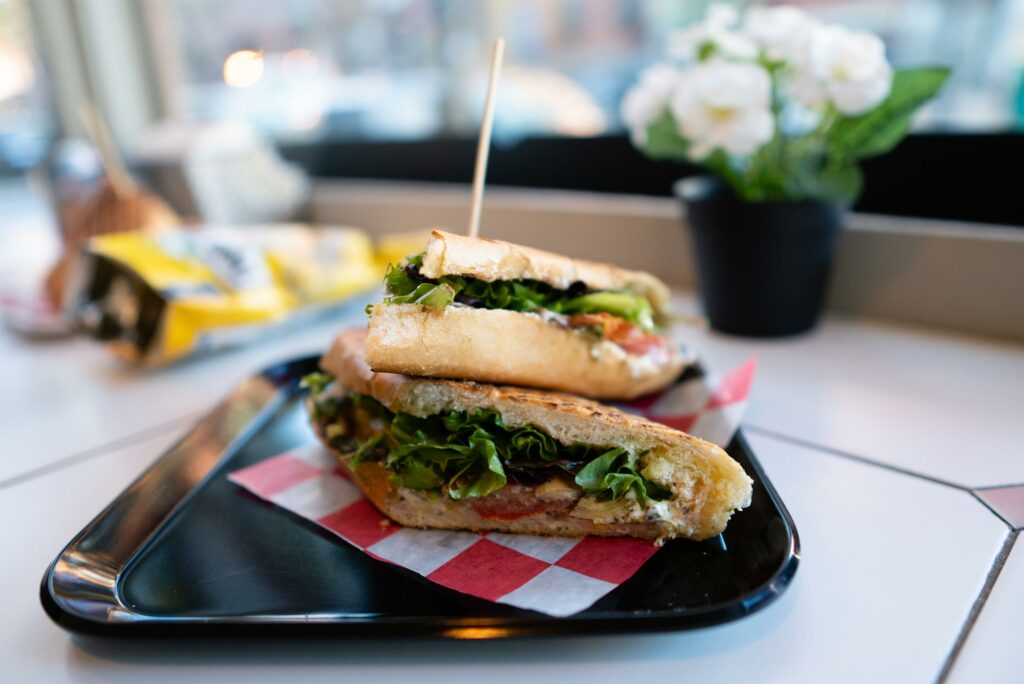 The Provencal sandwich at Blunch located at 59 East Springfield St. in Boston's South End neighborhood.