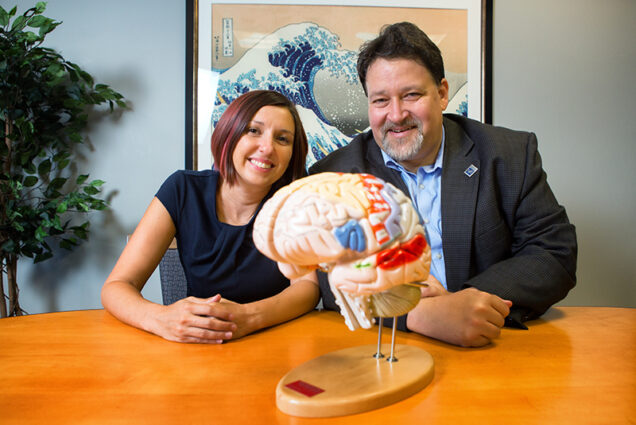 Neuroscientists Samantha Michalka of Boston University Center for Computational Neuroscience and Neural Technology and David Somers of Boston University Department of Psychological and Brain Sciences