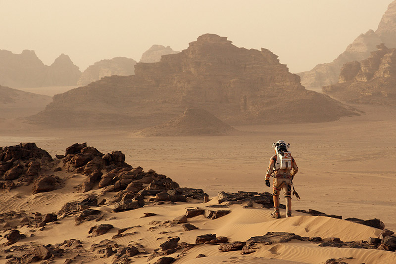 """I'm the greatest botanist on the planet,"" Watney announces to a totally deserted Mars."