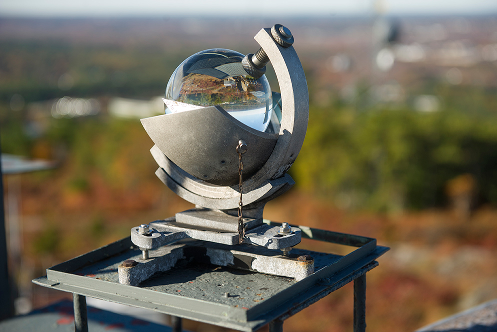 Campbell-Stokes Sunshine Recorder at Blue Hill Observatory