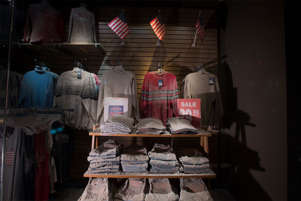 Chelsea Jeans Storefront on display at the 9/11 Memorial Museum in New York City