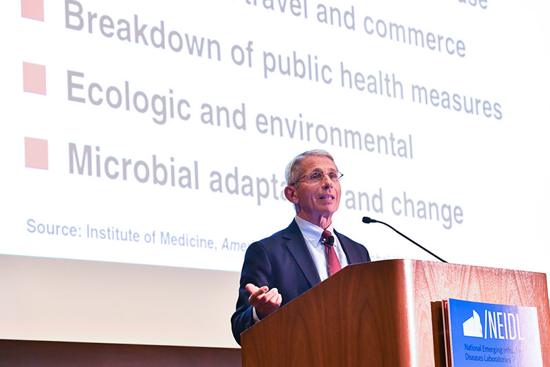 Anthony Fauci, David Quammen Address NEIDL Inaugural Symposium
