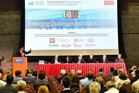 Panel discussion at National Emerging Infectious Diseases Laboratories (NEIDL) Inaugural Symposium