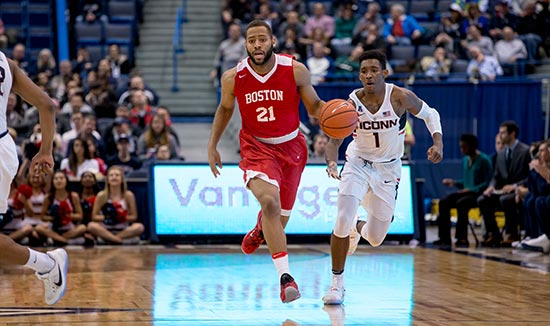 Boston University's Cedric Hankerson is leading the team in steals and averaging 9.7 points per game.