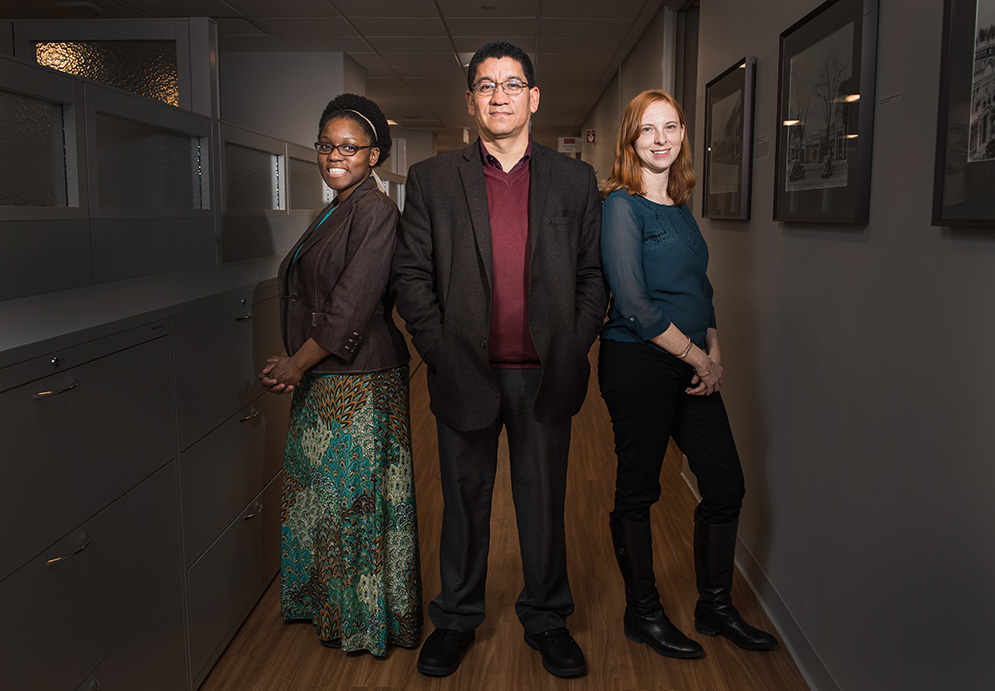 Boston University Slone Epidemiology Center researchers, Traci Bethea, Edward Ruiz-Narváez, and Kimberly Bertrand