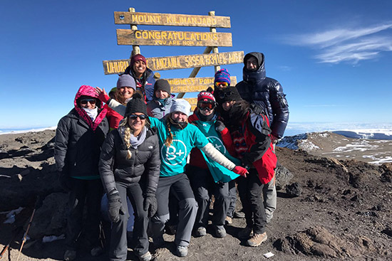 Students from BU and other schools reached the summit of Mount Kilimanjaro.
